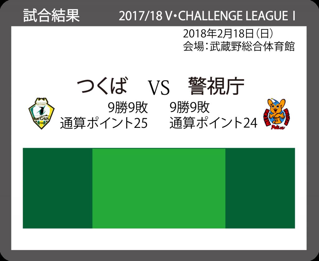 2017/18 V・チャレンジリーグⅠ 男子バレーボール 20180218_VS_警視庁